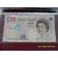 20 фунтов 1999 года. AB61 397157