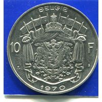 Бельгия 10 франков 1970 BELGIE , XF