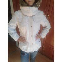 Куртка белая парка р ,48-50