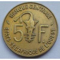 Западные Африканские Штаты 5 франков 1976
