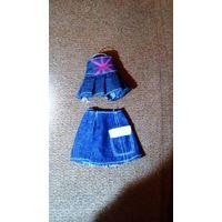 Одежда для куклы - юбки джинсовые
