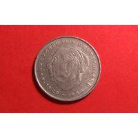 2 марки 1976 F. Германия. ФРГ. Теодор Хойс. 20 лет Федеративной Республике.