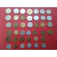 Лот монет, с рубля, без М.Ц.