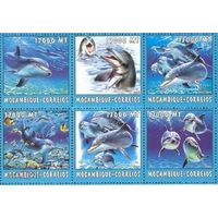 2002 Мозамбик Фауна Дельфины MNH СЕРИЯ 6 МАРОК \6