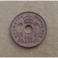 Британская Восточная Африка, 10 центов 1950 г., Георг VI (1936-1952), без титула императора
