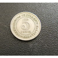 МАЛАЙЯ 5 центов 1950 Георг VI