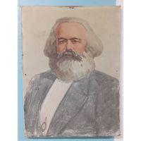 Портрет Карла Маркса ( масло , холст ) 80 х 60