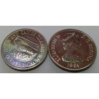 Теркс и Кайкос 1/4 кроны 1981 (акционная цена)