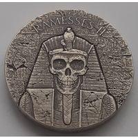 "Чад 2017 серебро (2 oz) ""Египетские реликвии. Рамзес II. После смерти"" (box)"