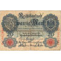 Германия, 20 марок, 1914 г.