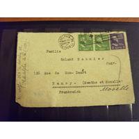 1949 (1938 марки) США вырезка из письма 3 марки хорошая сохранность президенты