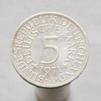 Германия 5 марок 1971 J серебро