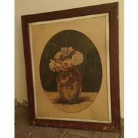1917 год   ,Натюрморт ,1917 год ,  цветы