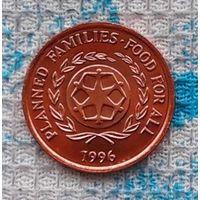 Тонга 2 сенити 1996 года. AU. Инвестируй в монеты планеты!