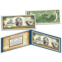 2 доллара штат DELAWARE - первый штат США (цветные в футляре с цветным сертификатом)