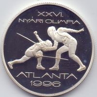 Венгрия, 1000 форинтов 1996 года. ХХV1 ОИ 1996 года в Атланте.