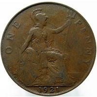 Великобритания 1 пенни 1921 (375)