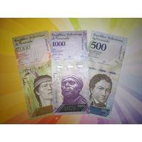 Венесуэла 500_1000_2000 боливар 2016г