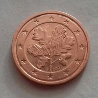 2 евроцента, Германия 2007 G, AU