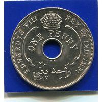 Британская Западная Африка 1 пенни 1936 KN , XF