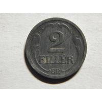 Венгрия 2 филлера 1943г