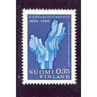 Финляндия. 100 лет народной школы. Символ