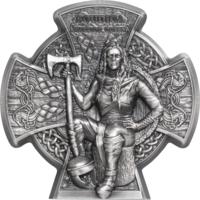 "RARE Остров Мэн 5 фунтов 2020г. ""Боудика Королева воинов"". Монета в подарочном футляре; сертификат; коробка. СЕРЕБРО 93,30гр.(3 oz)."