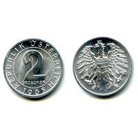 Австрия 2 гроша 1965 UNC