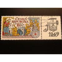 Чехия 1999 король Вензель 1 с купоном