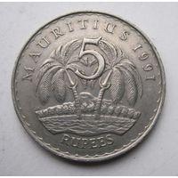 Маврикий, 5 рупий, 1991