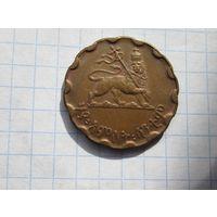Монета эфиопии. 25 центов 1944г