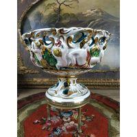 C рубля Аукцион Августа! Фарфоровая ваза. Capodimonte (Каподимонте) Италия