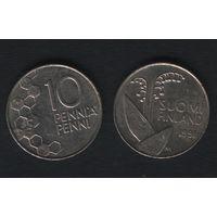Финляндия km65 10 пенни 1991 год (M) (f36)