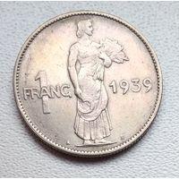 Люксембург 1 франк, 1939 6-2-17