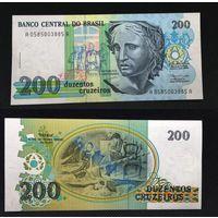 Банкноты мира. Бразилия, 200 крузадо