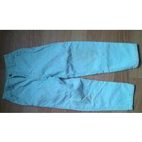 Штанишки штроксовые светло-голубые (бирюзовые)