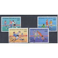 [759] Конго 1986. Спорт.Футбол.  Гашеная серия.