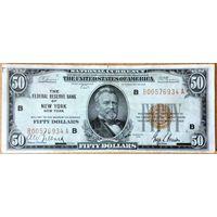50 $ 1929г  XF