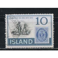 Исландия Респ 1973 100 летие исландской марки Первая марка Почтальон #473