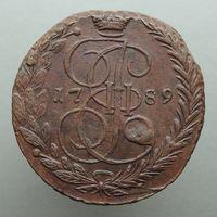 5 копеек 1789 ЕМ, aUNC! Соударение штемпелей! С 1 Рубля!