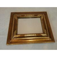 Зеркало небольшое деревянная рамка винтаж Германия размеры 36 х 41 см.