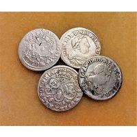 4 ШЕСТИГРОШОВИКА (1680,1681,1682,1683) ЯН III СОБЕСКИЙ - ПО БЛИЦУ ПОЧТОЙ БЕСПЛАТНО !