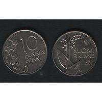 Финляндия km65 10 пенни 1991 год (M) (f313)