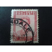 Южная Родезия 1947 колония Англии королева Елизавета (еще не 2-я)