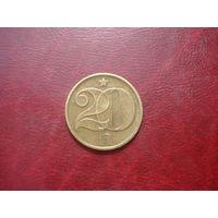 20 геллеров 1977 год Чехословакия