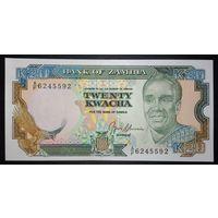 Замбия 20 квача 1989 UNC