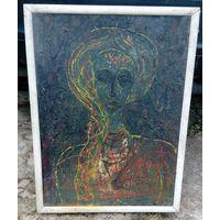 """Картина """" Грусть"""". А. Бобров. 1988 год."""