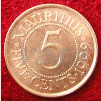 7755:  5 центов 1999 Маврикий