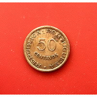 46-14 Ангола, 50 сентаво 1957 г. Единственное предложение монеты данного года на АУ