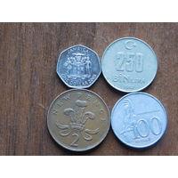 Четыре монеты за 1 рубль